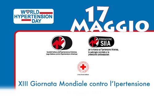 17 Maggio 2017XIII Giornata Mondiale contro l'Ipertensione Arteriosa