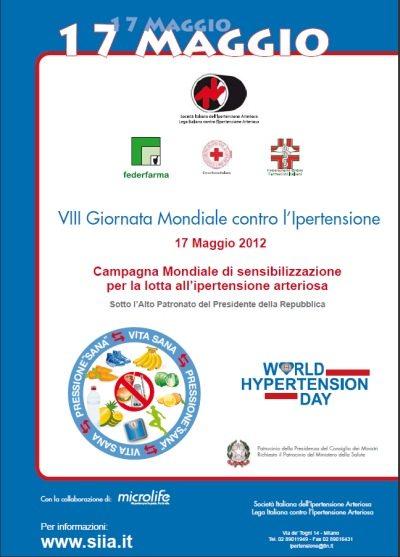 VIII Giornata Mondiale contro l'Ipertensione Arteriosa