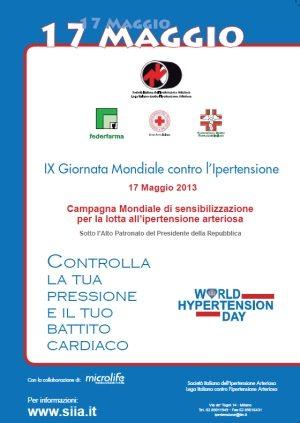 IX Giornata Mondiale contro l'Ipertensione Arteriosa
