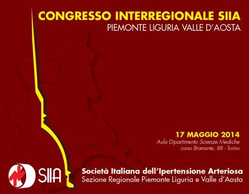 CONGRESSO INTERREGIONALE SIIA – PIEMONTE/LIGURIA/VALLE D'AOSTA.  Torino, 17 maggio 2014