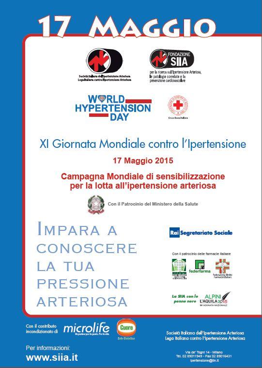 XI Giornata Mondiale contro l'Ipertensione Arteriosa