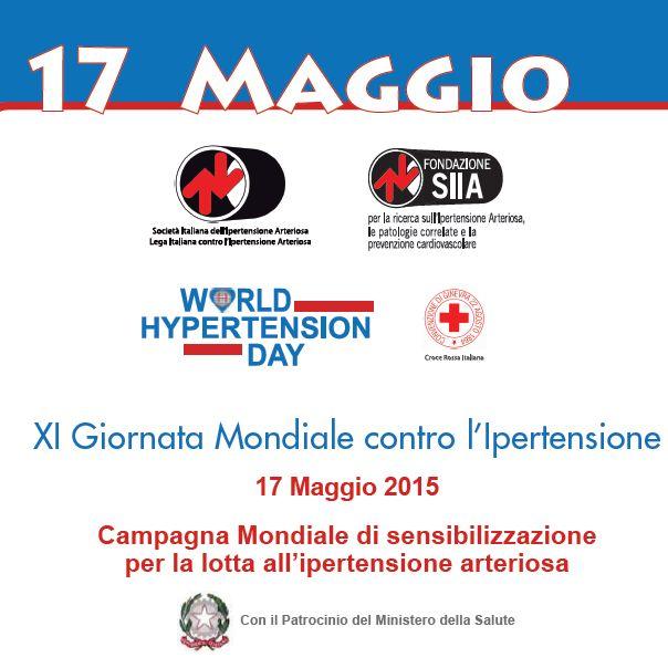 XI Giornata Mondiale contro l'Ipertensione Arteriosa. Comunicato stampa