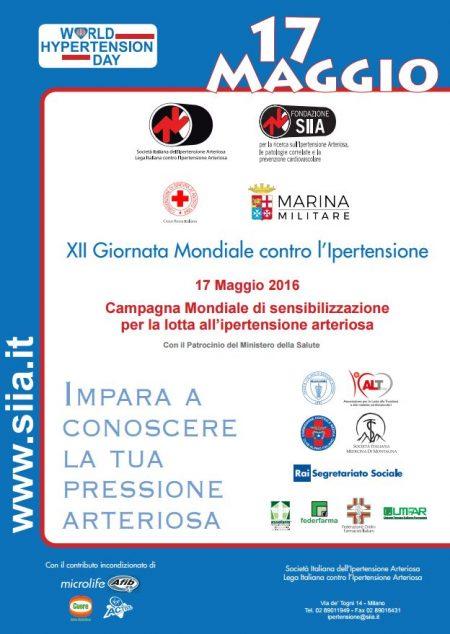 XII Giornata Mondiale contro l'Ipertensione Arteriosa