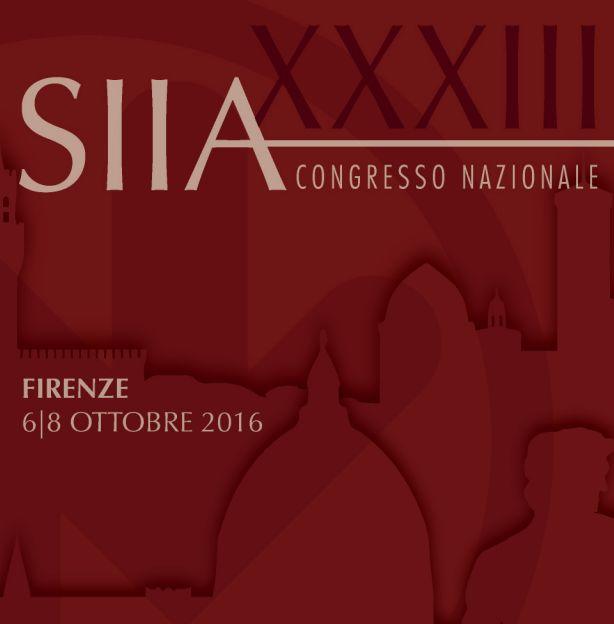 XXXIII Congresso Nazionale SIIA 2016