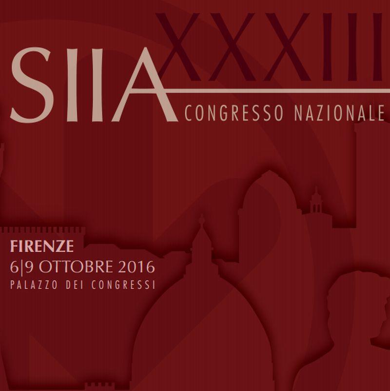 Congresso Nazionale SIIA 2016: Giovani Ricercatori, Presentazioni Abstract e Comunicazioni Orali