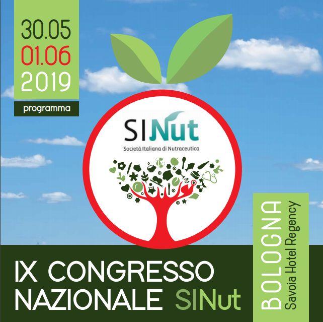 IX Congresso Nazionale SINut – Bologna, 30 maggio – 1 giugno 2019