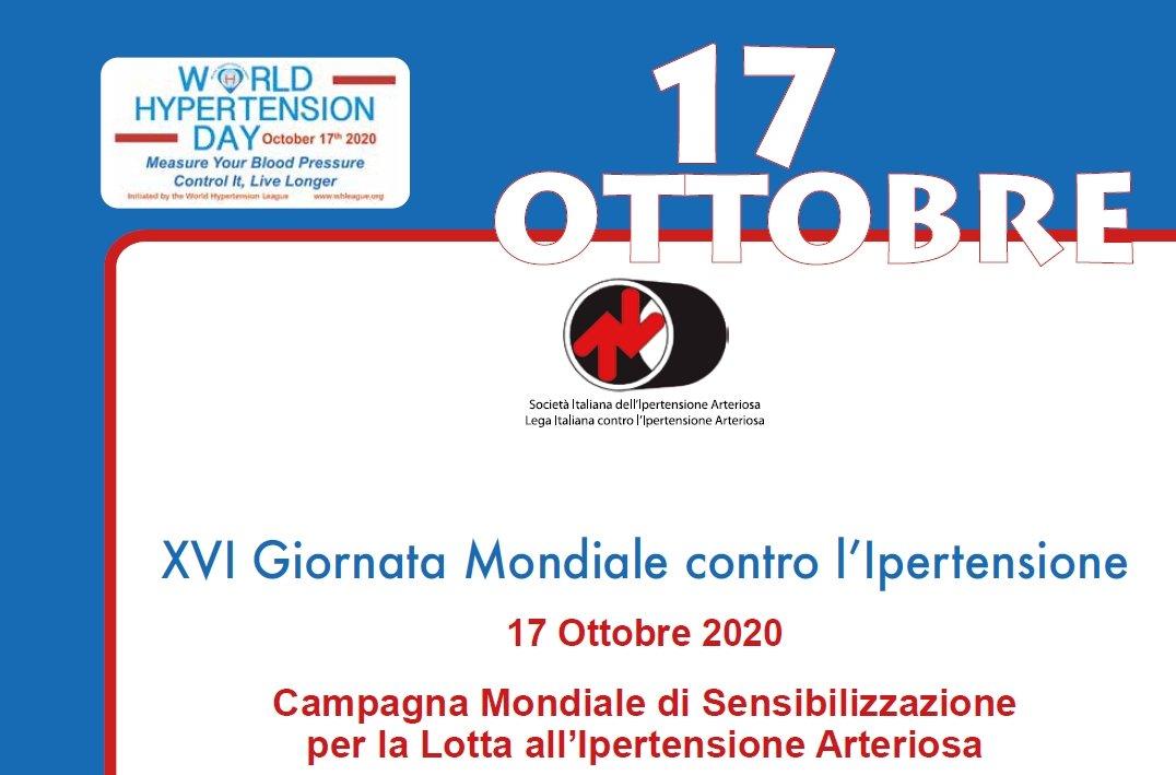 XVI Giornata Mondiale contro l'Ipertensione Arteriosa