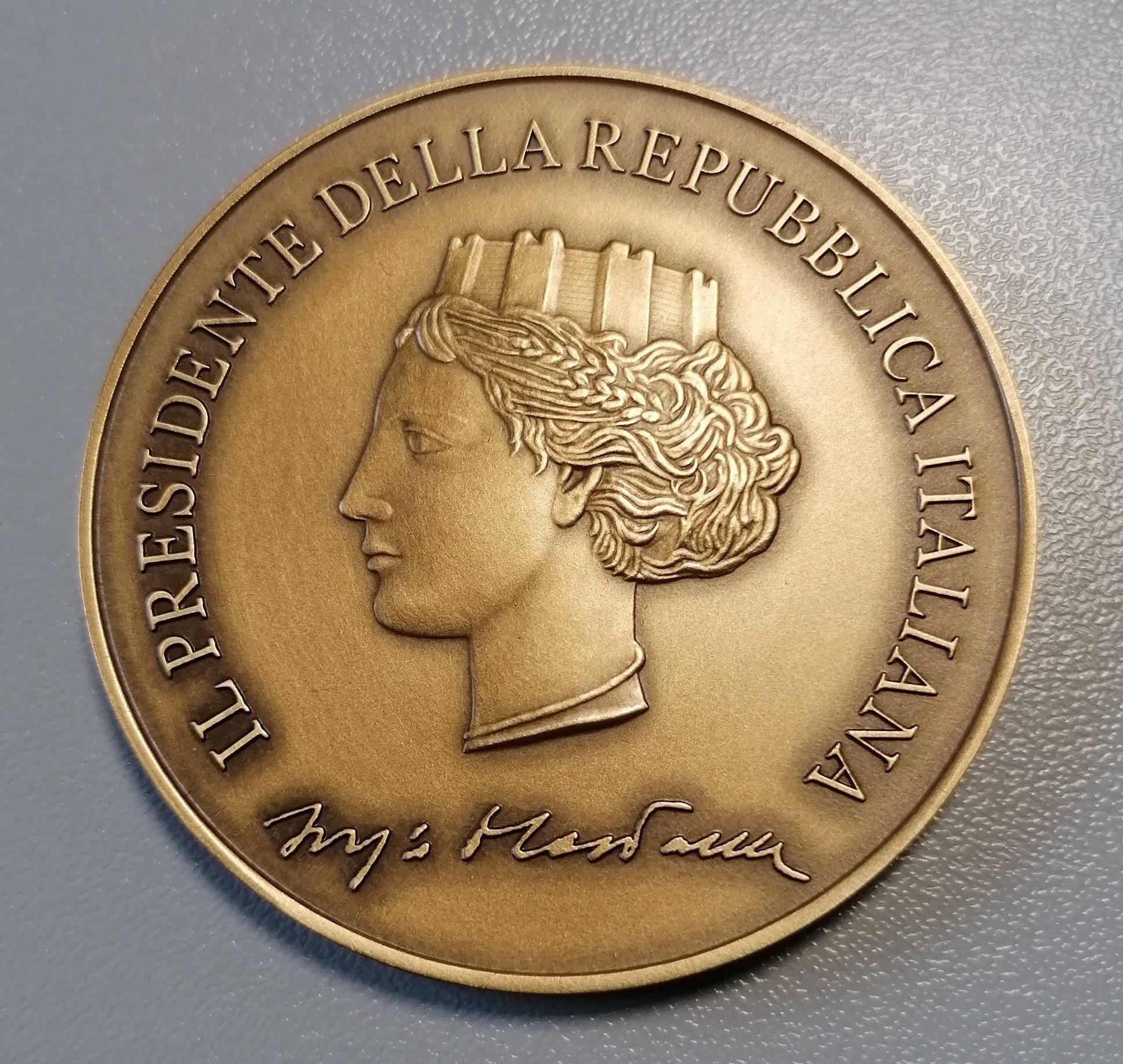 Dal Presidente della Repubblica una medaglia per la SIIA